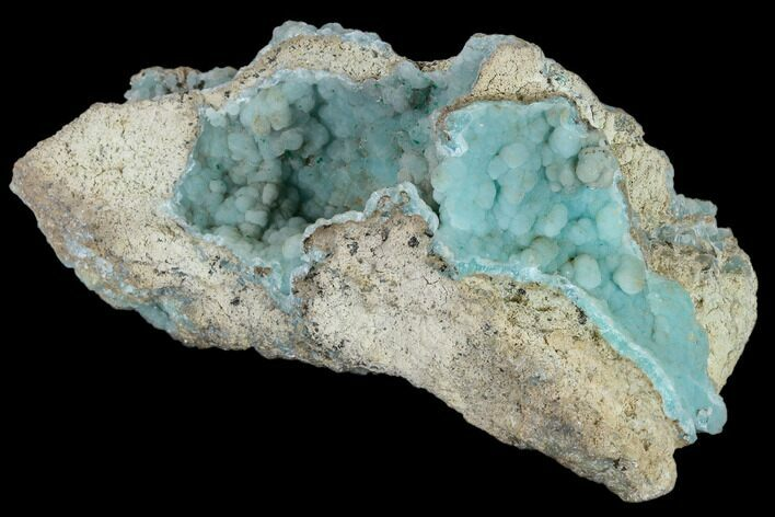 "4.4"" Sparkling, Sky Blue Hemimorphite - 79 Mine, Arizona"