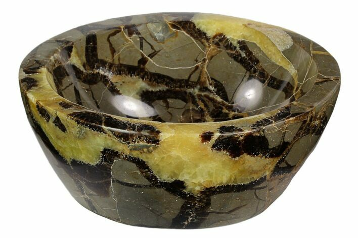 "5.2"" Polished Septarian Bowl - Madagascar"