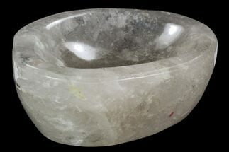 "5.7"" Polished Quartz Bowl - Madagascar For Sale, #120197"