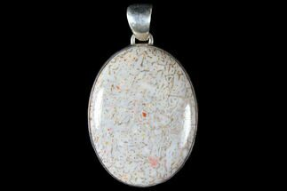 Polished Fossil Dinosaur Bone (Gembone) Pendant For Sale, #115061