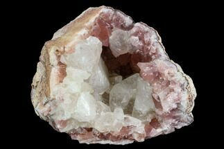 "2.7"" Pink Amethyst Geode Section with Calcite - Argentina For Sale, #120458"