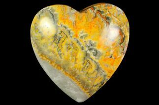 "Buy 3.1"" Polished Bumblebee Jasper Heart - Indonesia - #121204"