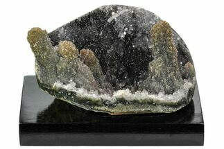 "Buy 3.4"" Silvery Druzy Quartz Cluster With ""Stalactites""- Uruguay - #121342"