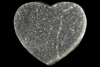 "Buy 3.5"" Silvery Druzy Quartz Heart - Uruguay - #121405"
