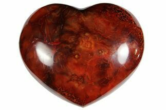 "Buy 3.2"" Colorful Carnelian Agate Heart - #121540"