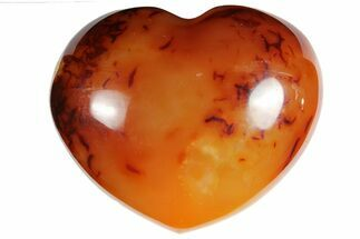 "Buy 2.9"" Colorful Carnelian Agate Heart - #121543"