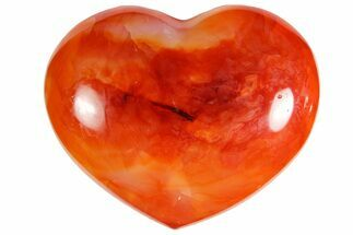 "3.2"" Colorful Carnelian Agate Heart For Sale, #121544"