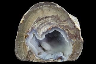 "3"" Crystal Filled Dugway Geode (Polished Half) For Sale, #121661"