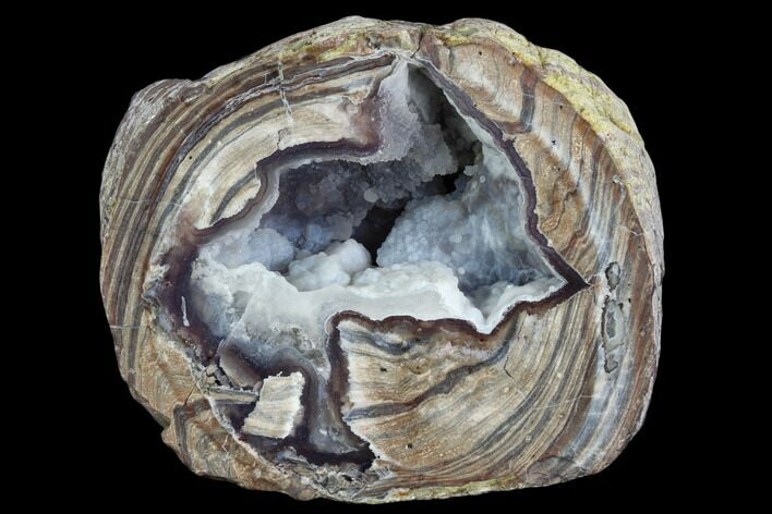 "3.04"" Crystal Filled Dugway Geode (Polished Half)"