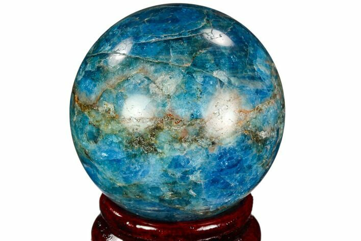 "2"" Bright Blue Apatite Sphere - Madagascar"