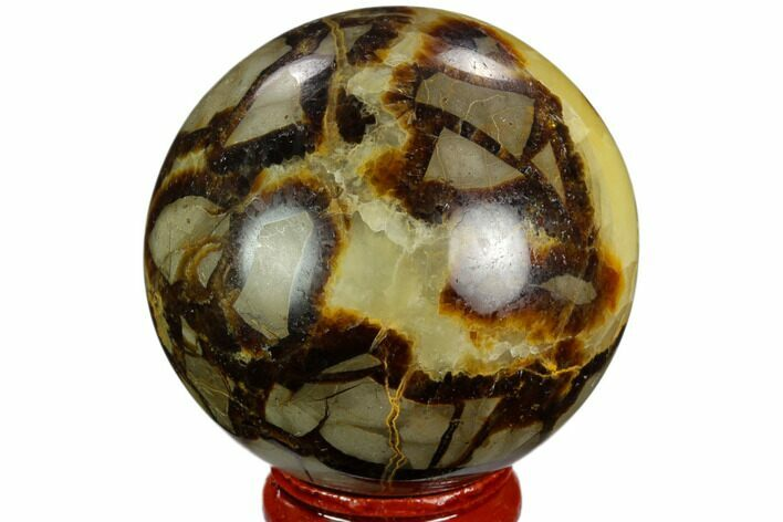 "2.1"" Polished Septarian Sphere - Madagascar"