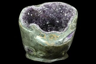 "Buy 7.4"" Wide, Purple Amethyst Geode - Uruguay - #123784"