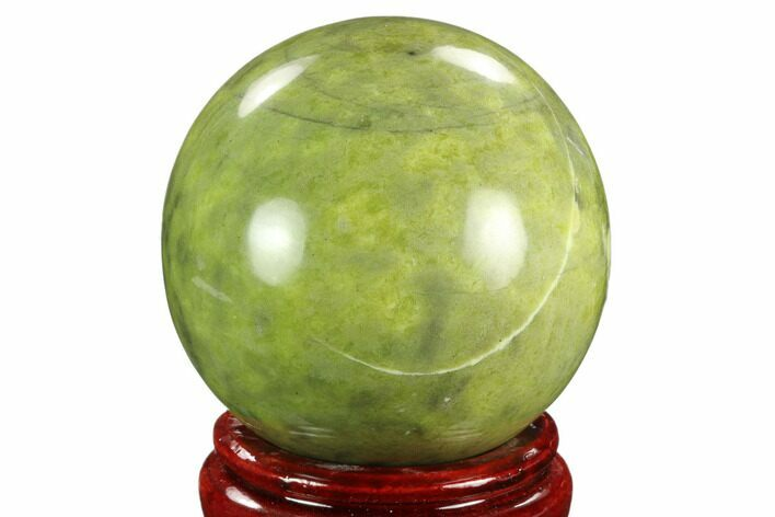 "3.6"" Polished Serpentine Sphere - Pakistan"