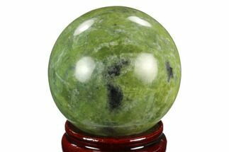 "2.65"" Polished Serpentine Sphere - Pakistan For Sale, #124316"