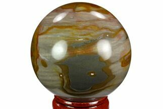 "2.0"" Polished Polychrome Jasper Sphere - Madagascar For Sale, #124127"