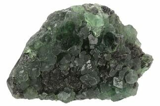 "Buy 4.9"" Green Fluorite on Sparkling Quartz - China - #124255"