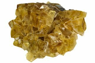 "3.2"" Lustrous Yellow Calcite Crystal Cluster - Fluorescent! For Sale, #125324"