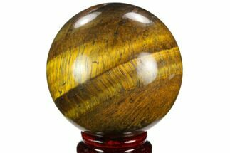 "Buy 2.8"" Polished Tiger's Eye Sphere - Africa - #124618"