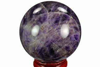"2.05"" Polished Chevron Amethyst Sphere For Sale, #124517"