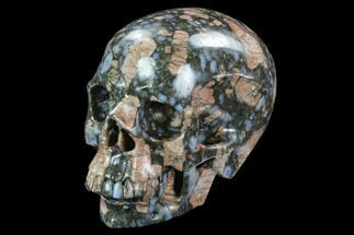 "5"" Carved, Que Sera Stone Skull - Brazil For Sale, #127565"
