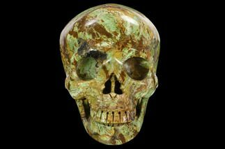 "Buy 4.9"" Realistic, Polished Autumn Jasper Skull  - #127612"
