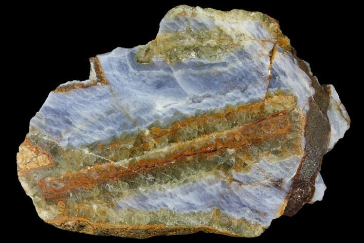 "4.1"" Polished Blue Lace Agate Slice - South Africa"