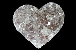 "Buy 1.18"" Quartz Crystal Cluster Heart - Uruguay - #128710"