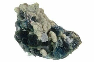 Fluorite & Quartz - Fossils For Sale - #128787