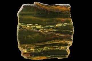 "10.5"" Marra Mamba Tigers Eye Slab - Mt. Brockman (2.7 Billion Years) For Sale, #129128"