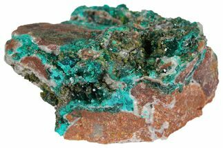 "2"" Dioptase Crystals on Dolomite - Mpita Prospect, Congo For Sale, #131270"