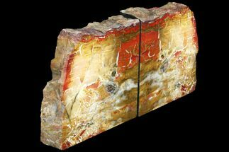 "6.4"" Red And Yellow Jasper Replaced Petrified Wood Bookends - Oregon For Sale, #131797"