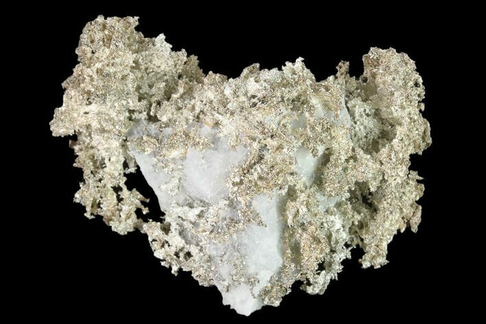"1.9"" Native Silver Formation in Etched Calcite - Morocco"