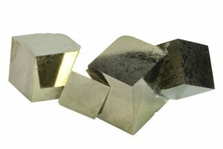 "3.4"" Shiny, Natural Pyrite Cube Cluster - Navajun, Spain For Sale, #133583"