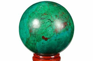 "2.2"" Polished Chrysocolla & Malachite Sphere - Peru For Sale, #133754"