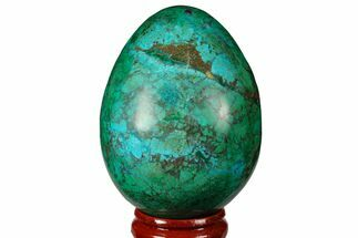 "2.5"" Polished Chrysocolla & Malachite Egg - Peru For Sale, #133790"