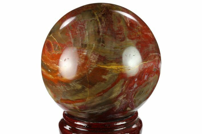 "4.2"" Colorful Petrified Wood Sphere - Madagascar"