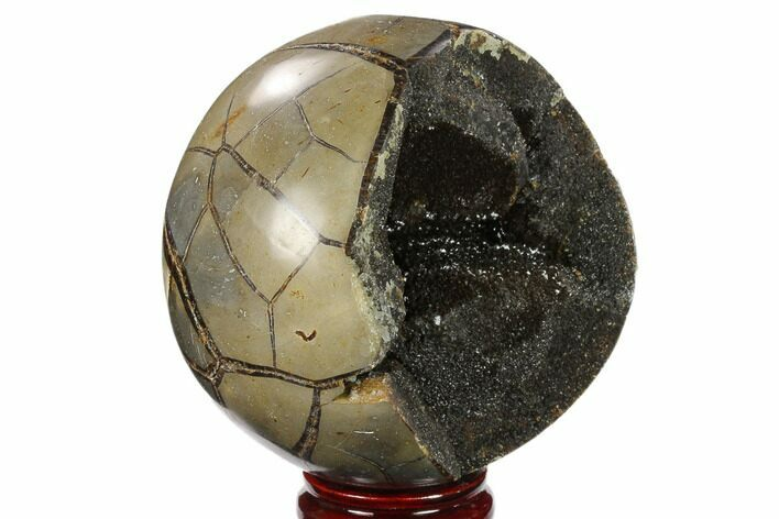 "5"" Polished Septarian Geode Sphere - Madagascar"