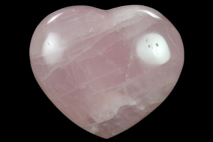 "3"" Polished Rose Quartz Heart - Madagascar"