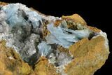 "8.2"" Blue Bladed Barite Crystal Clusters with Calcite   - Morocco - #134935-3"