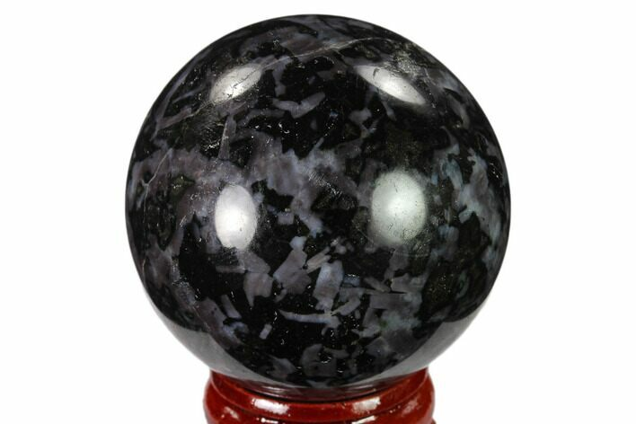 "1.8"" Polished, Indigo Gabbro Sphere - Madagascar"