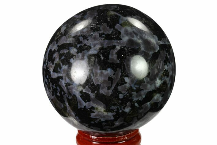 "2.2"" Polished, Indigo Gabbro Sphere - Madagascar"