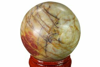 "1.55"" Polished Cherry Creek Jasper Sphere - China For Sale, #136133"