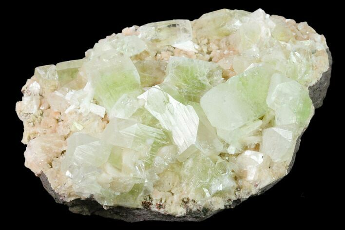 "5.7"" Zoned Apophyllite Crystals on Heulandite - India"