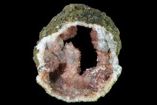 "Buy 5.7"" Quartz Crystal Geode Section with Hematite Inclusions - Morocco - #136933"