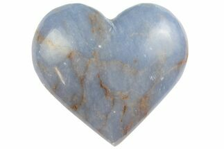 "Buy 1.8"" Polished Blue Angelite (Anhydrite) Heart - #137350"