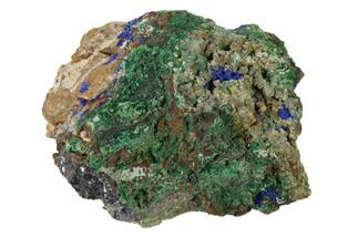 "Buy 4.1"" Druzy Azurite and Malachite on Galena Matrix - Morocco - #137434"