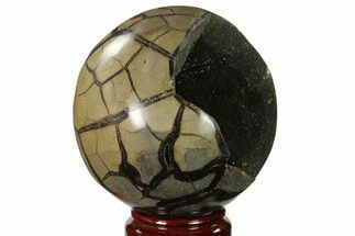 "Buy 5.8"" Polished Septarian Geode Sphere - Madagascar - #137932"