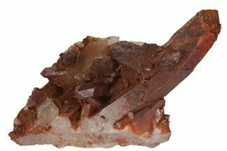"3.5"" Natural Red Quartz Crystal Cluster - Morocco For Sale, #139760"
