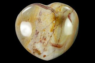 "3.1"" Wide, Polychrome Jasper Heart - Madagascar For Sale, #139955"