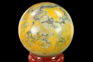 "1.7"" Polished Bumblebee Jasper Sphere - Indonesia For Sale, #140006"